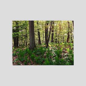 Deep forest 5'x7'Area Rug