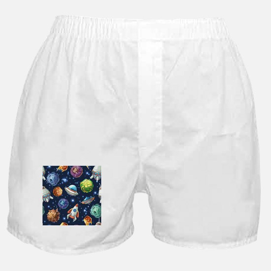 Cartoon Space Boxer Shorts