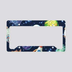 Cartoon Space License Plate Holder