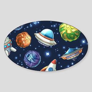 Cartoon Space Sticker