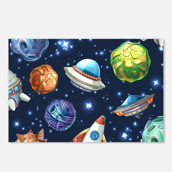 Cartoon Space Postcards (Package of 8)