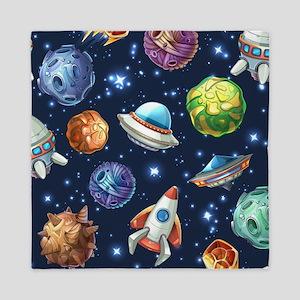 Cartoon Space Queen Duvet
