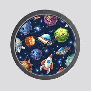 Cartoon Space Wall Clock