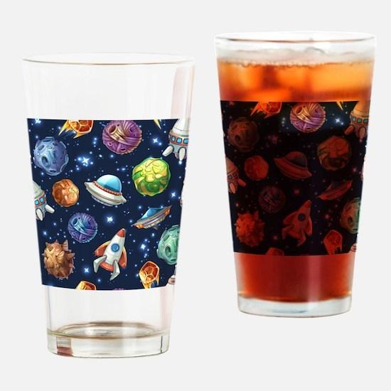 Cartoon Space Drinking Glass