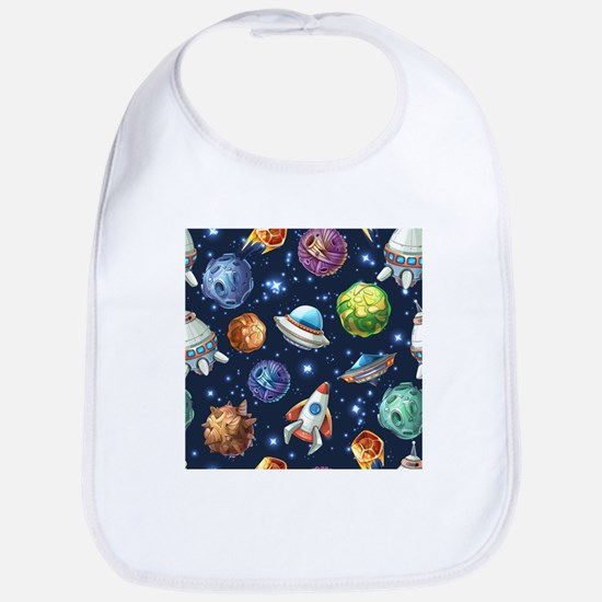 Cartoon Space Bib