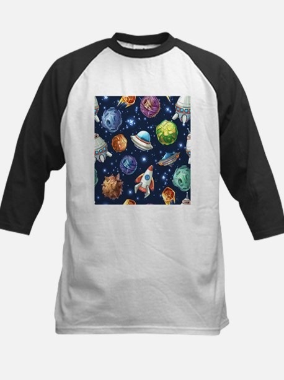 Cartoon Space Baseball Jersey