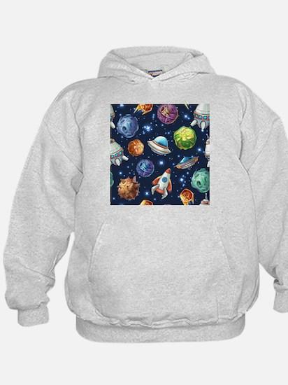 Cartoon Space Hoodie