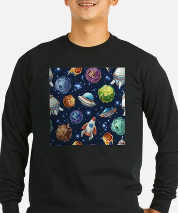 Cartoon Space Long Sleeve T-Shirt