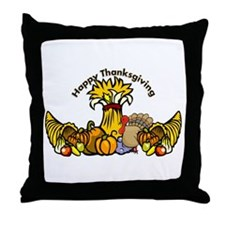 Thanksgiving Pumpkins Throw Pillow