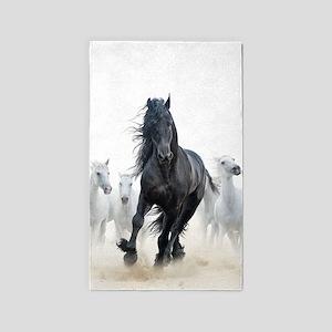 Running Horses Area Rug