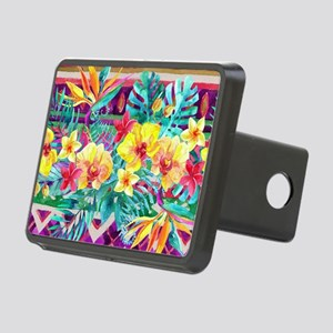 Tropical Watercolor Hitch Cover