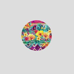 Tropical Watercolor Mini Button