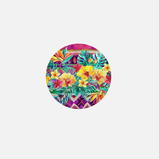 Tropical Watercolor Mini Button