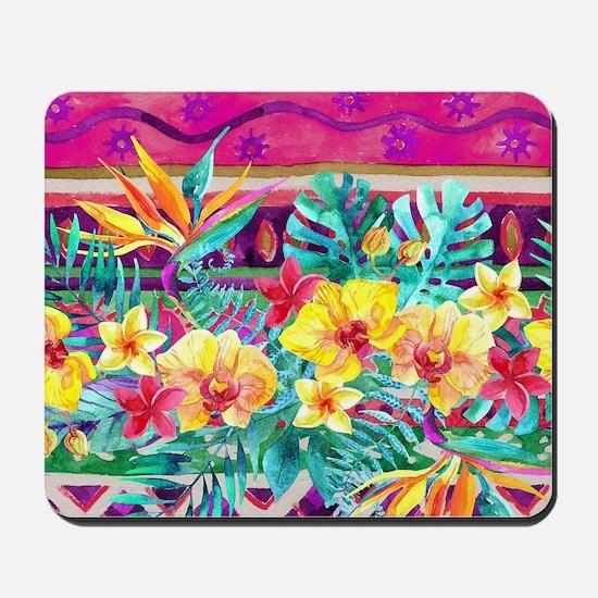 Tropical Watercolor Mousepad