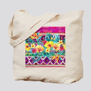 Tropical Watercolor Tote Bag