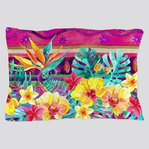 Tropical Watercolor Pillow Case