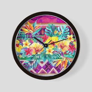 Tropical Watercolor Wall Clock