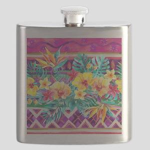 Tropical Watercolor Flask