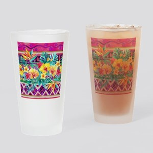 Tropical Watercolor Drinking Glass