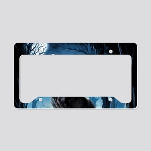 Howling Wolf License Plate Holder