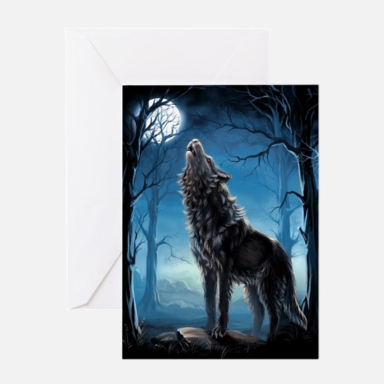 Howling Wolf Greeting Cards