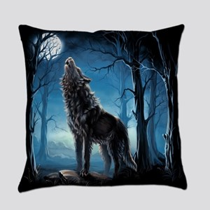 Howling Wolf Everyday Pillow