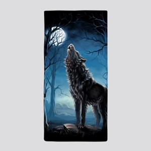 Howling Wolf Beach Towel