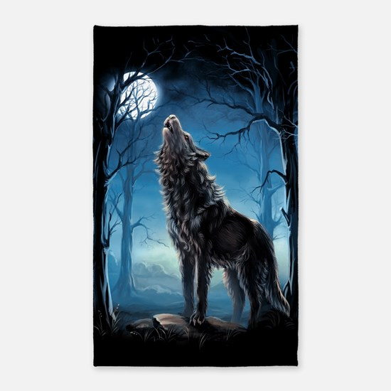Howling Wolf Area Rug