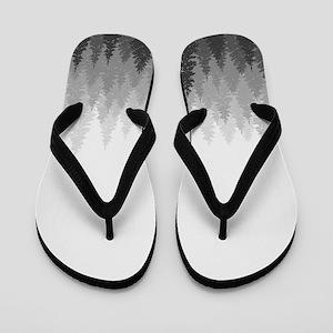 Gray Forest Flip Flops
