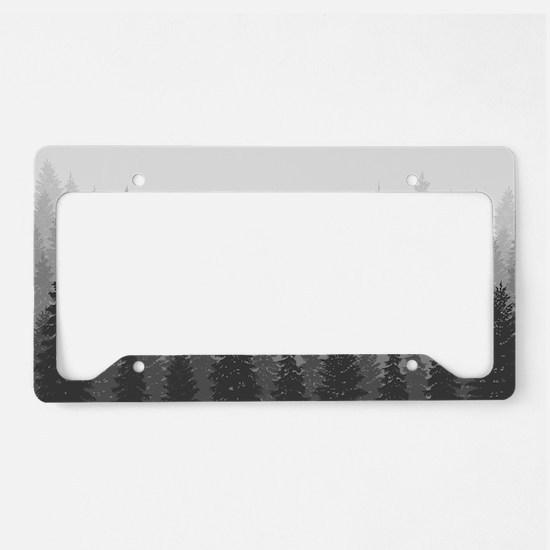 Gray Forest License Plate Holder