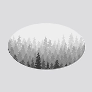 Gray Forest Wall Decal