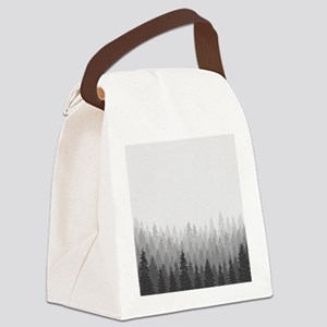 Gray Forest Canvas Lunch Bag