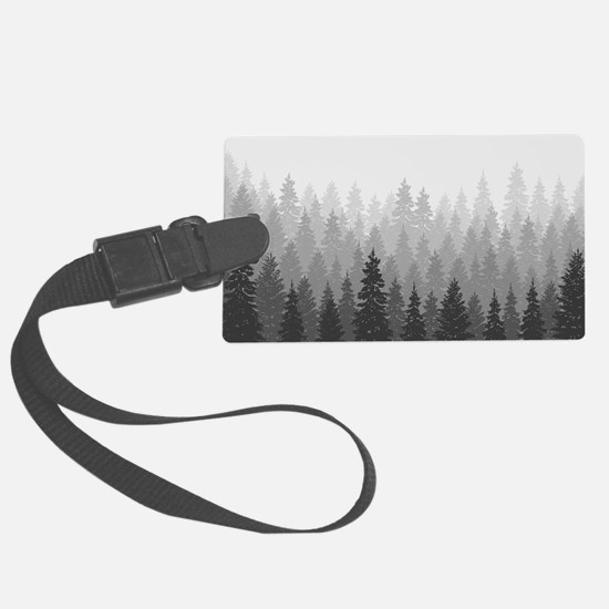 Gray Forest Luggage Tag