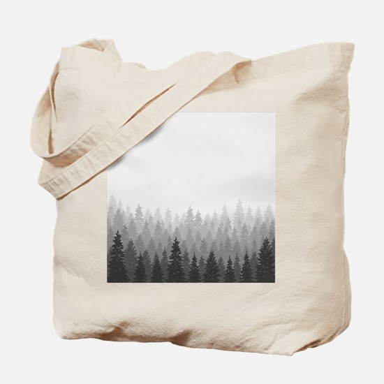 Gray Forest Tote Bag