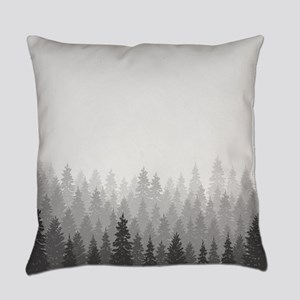 Gray Forest Everyday Pillow