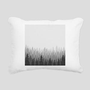 Gray Forest Rectangular Canvas Pillow