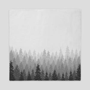 Gray Forest Queen Duvet