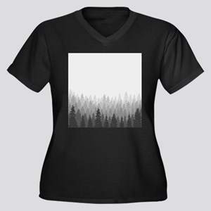 Gray Forest Plus Size T-Shirt