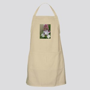 iris and other flower in garden Apron