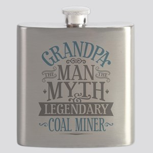 Grandpa Coal Miner Flask