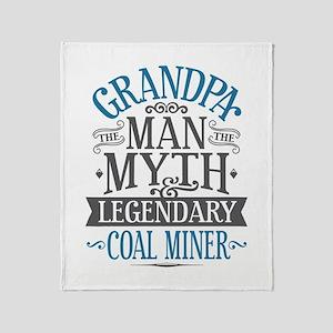 Grandpa Coal Miner Throw Blanket