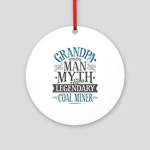 Grandpa Coal Miner Round Ornament
