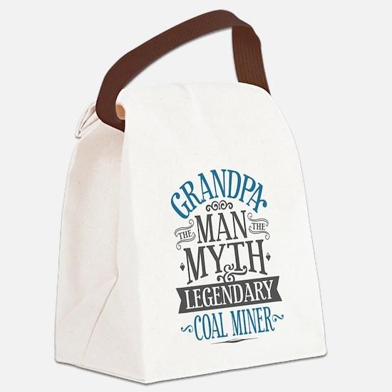 Grandpa Coal Miner Canvas Lunch Bag