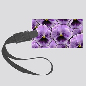Pansy Patch Large Luggage Tag