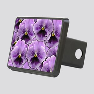 Pansy Patch Rectangular Hitch Cover