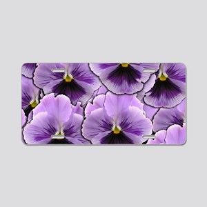 Pansy Patch Aluminum License Plate