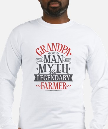 Grandpa Farmer Long Sleeve T-Shirt