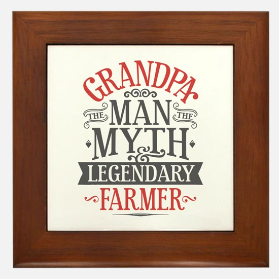 Grandpa Farmer Framed Tile