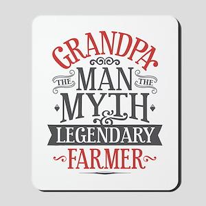 Grandpa Farmer Mousepad