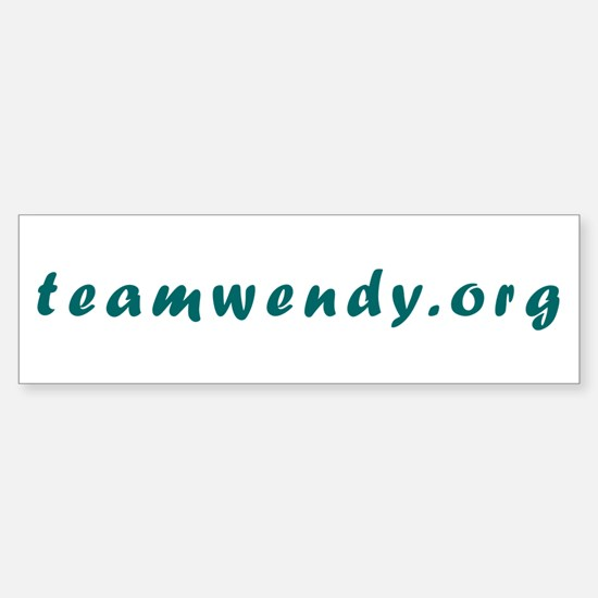 Team Wendy Bumper Bumper Bumper Sticker